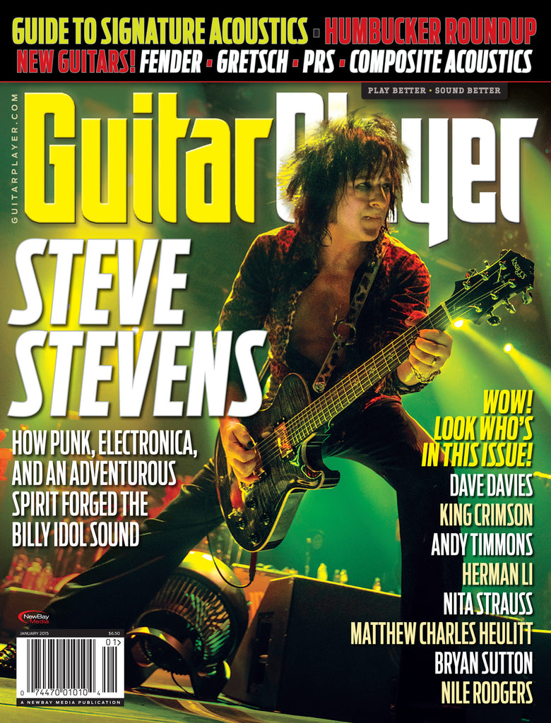 Guitar Player -  January 2015 - Steve Stevens