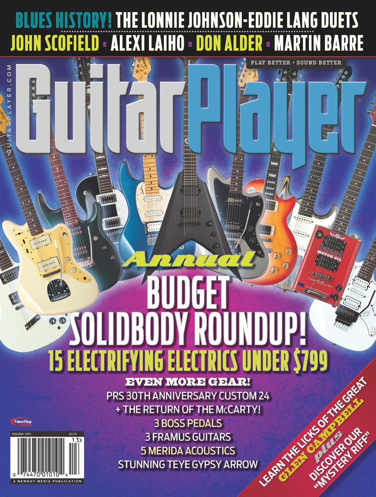 Guitar Player - Holiday 2015 - Annual Budget Solidybody Roundup