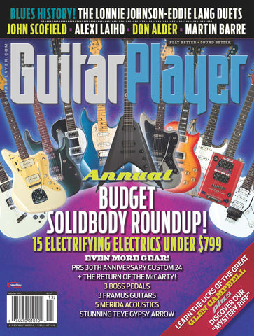 Guitar Player - Holiday 2015 - Annual Budget Solidybody Roundup - NewBay Media Online Store