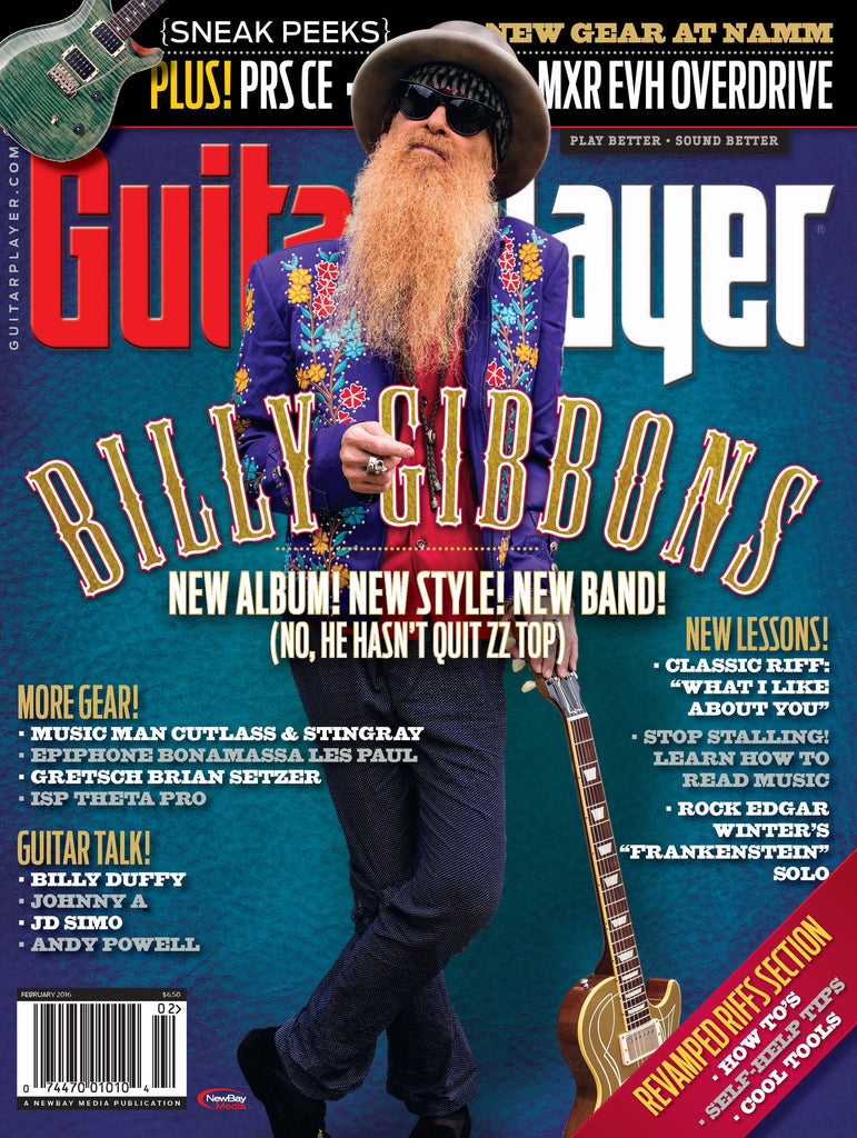 Guitar Player - February 2016 - Billy Gibbons - NewBay Media Online Store