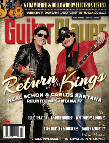 Guitar Player - September 2016 - Carlos Santana and Neal Schon