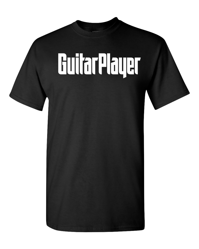 Guitar Player Black Logo T-Shirt