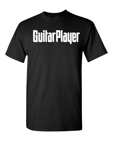 Guitar Player Black Logo T-Shirt - NewBay Media Online Store