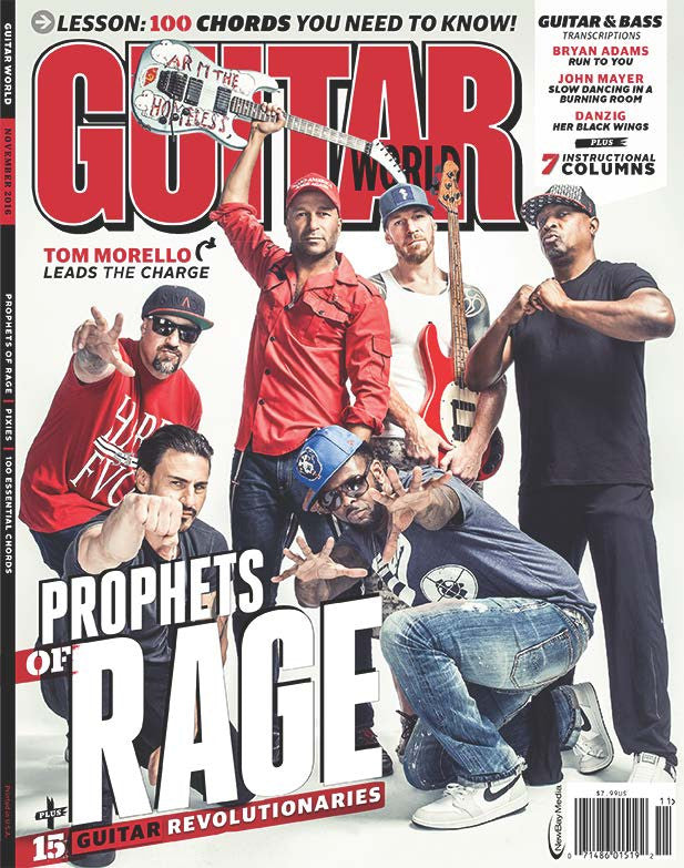 Guitar World November 2016 Prophets Of Rage Future Us Inc