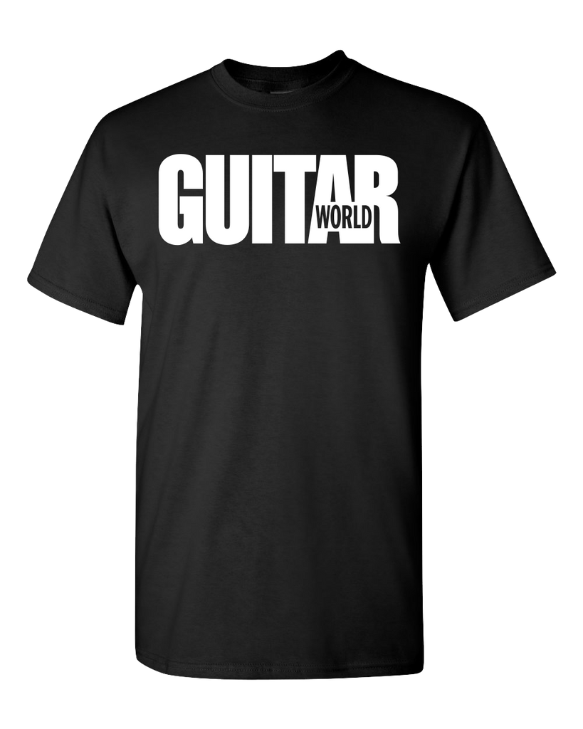 Guitar World Black Logo T-Shirt