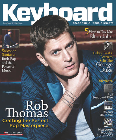 Keyboard Magazine - January 2016 - Rob Thomas - NewBay Media Online Store