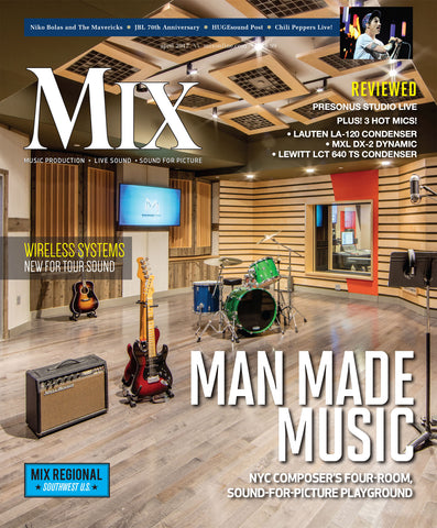 MIX - April 2017 - Man Made Music - NYC Composer's Four-Room, Sound-for-Pictured Playground - NewBay Media Online Store