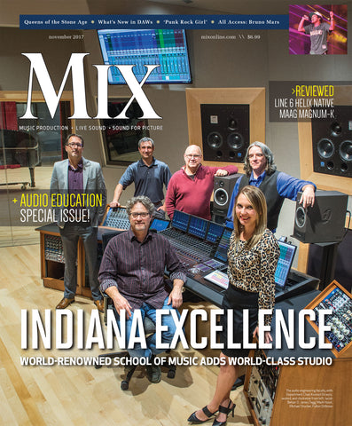 MIX - November 2017 - Indian Excellence -  World-Renowned School of Music Adds World-Class Studio