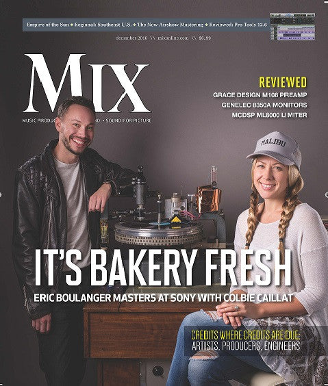 MIX - December 2016 - It's Bakery Fresh - Eric Boulanger Masters at Sony with Colbie Caillat - NewBay Media Online Store