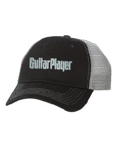 Guitar Player Logo Trucker Mesh Hat with Contrast Stitch - NewBay Media Online Store