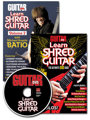 Learn Shred Guitar DVD Combo Pack