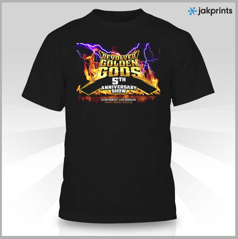 Revolver T-Shirt - Golden Gods 5th Anniversary