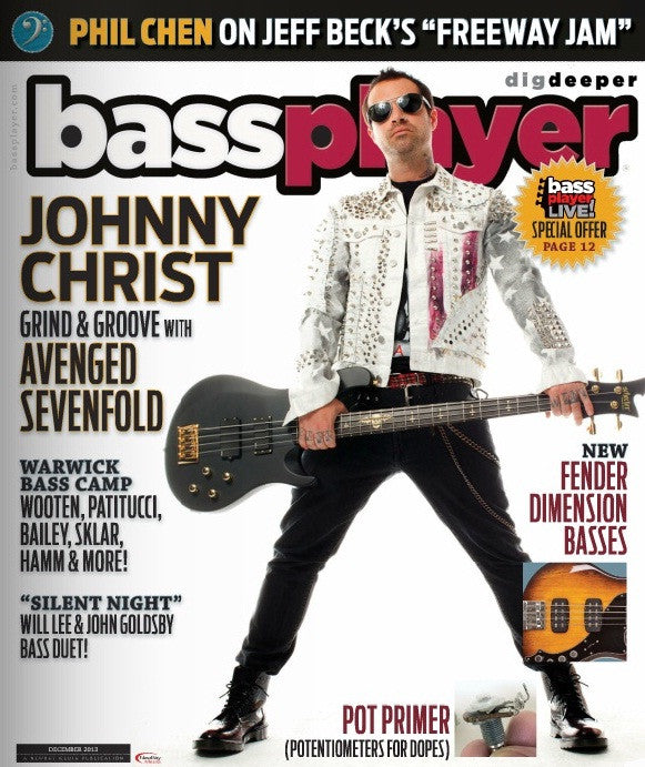 Bass Player - December 2013 - Johnny Christ - NewBay Media Online Store