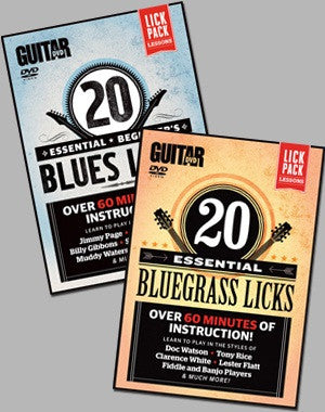 Lick Pack Lessons Combo: Blues & Bluegrass