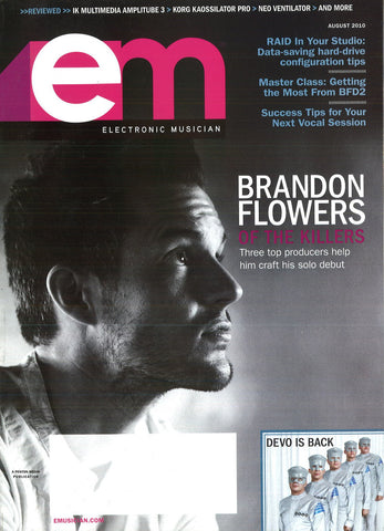 electronicMUSICIAN - August - 2010  Brandon Flowers - NewBay Media Online Store