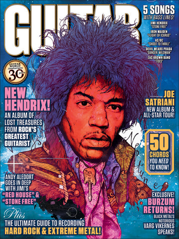 Guitar World Jimi Hendrix Poster