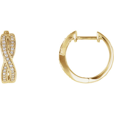 Diamond Criss-Cross Hoop Earrings