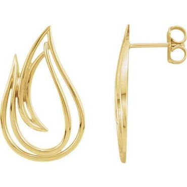 14K Freeform Earrings
