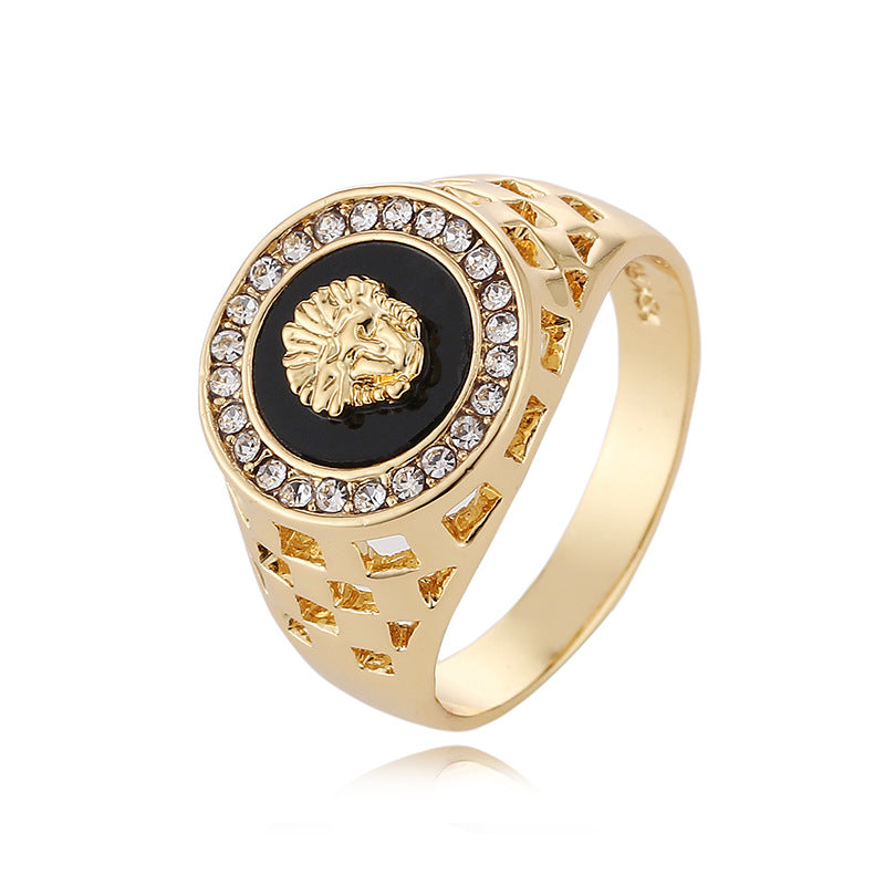 Lion Head Men's Ring