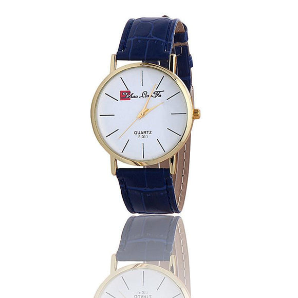 Classic Sports Analog Leather Quartz Wrist Watch