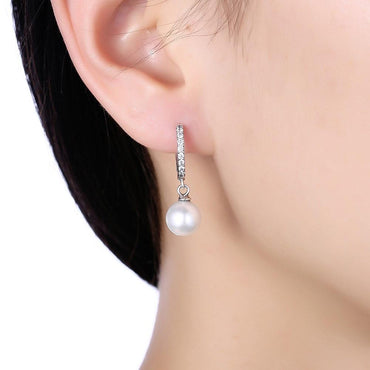 Retro Style Pearl Earrings