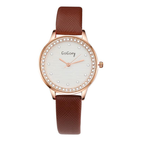 Luxury Diamond Leather Watch