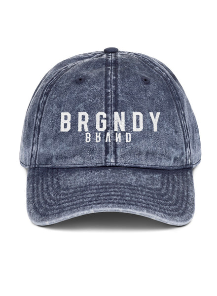 BRGNDY BRVND Icon Denim Dad Hat