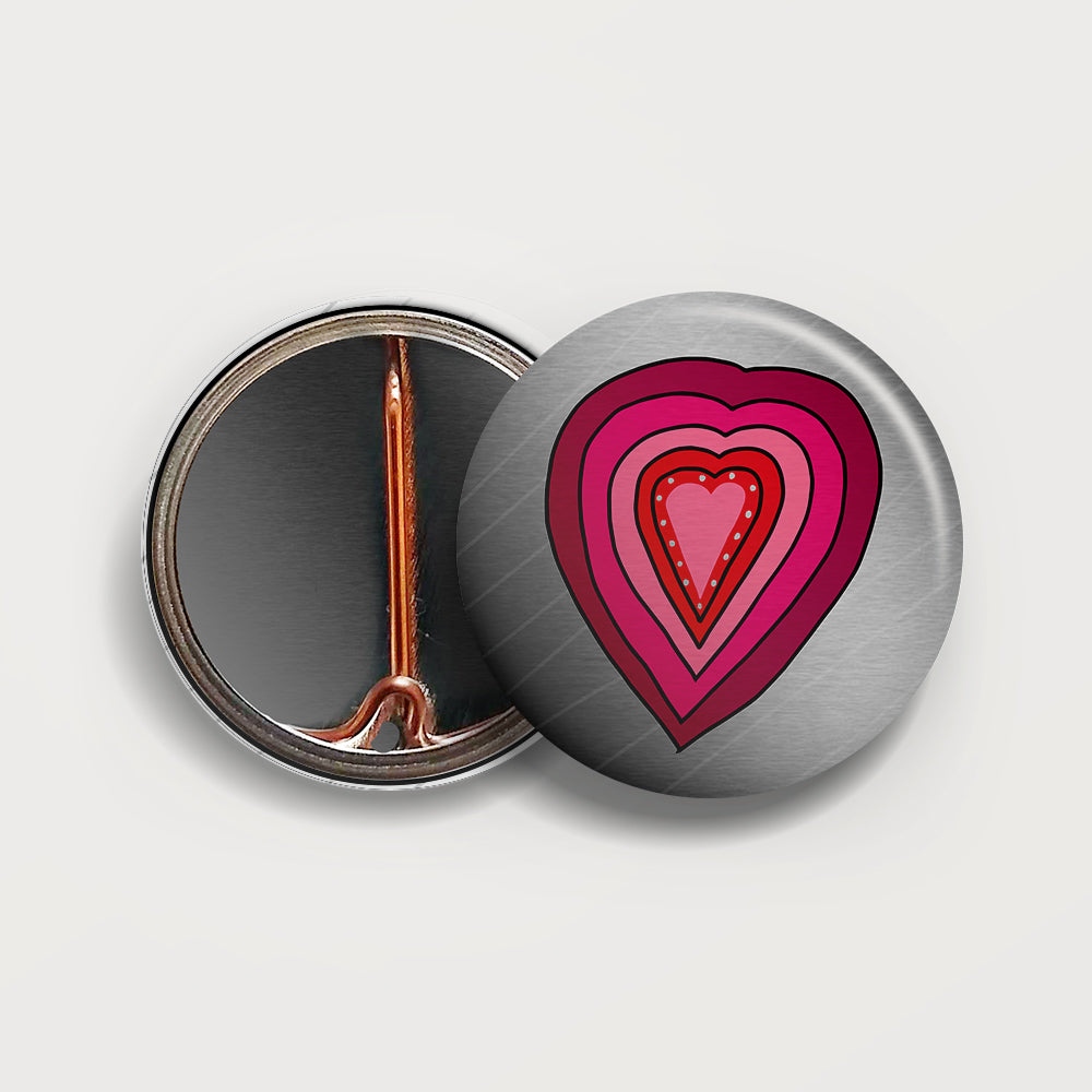 Heart button badge
