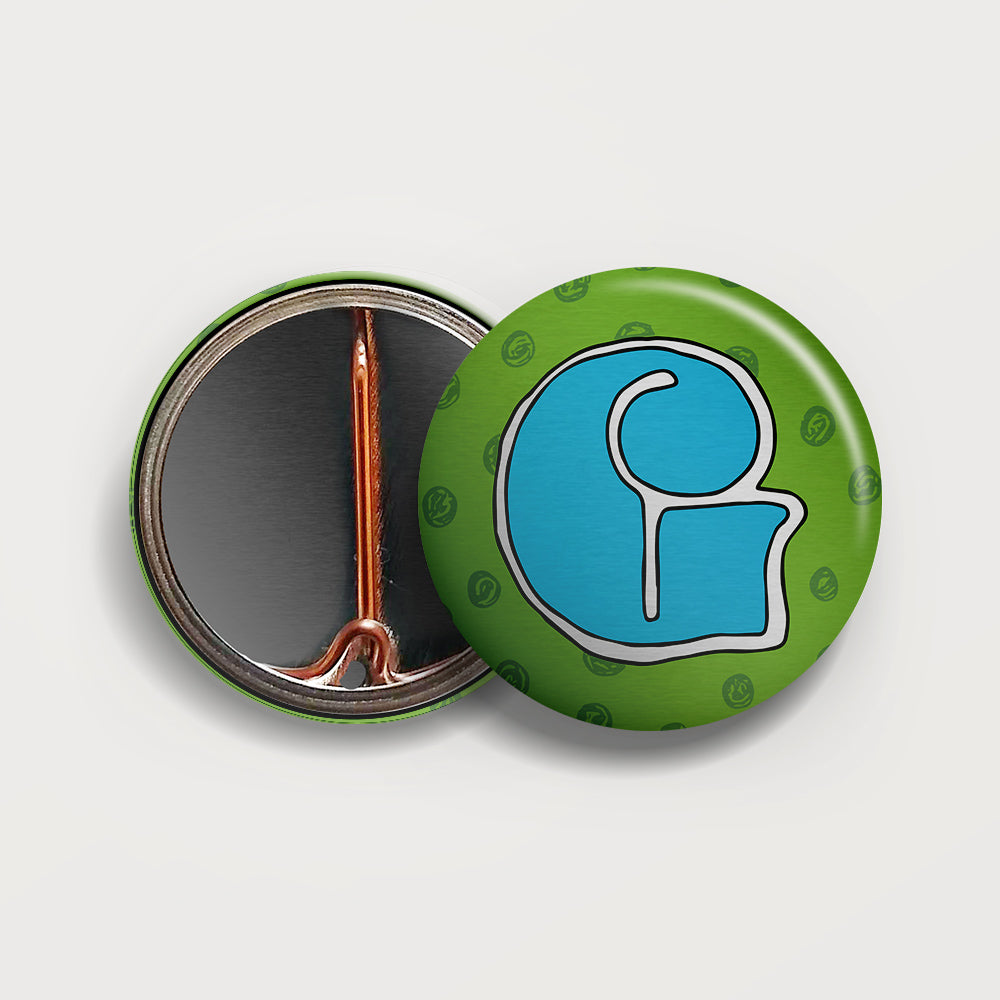 Letter G button badge