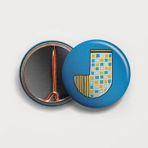Letter J button badge