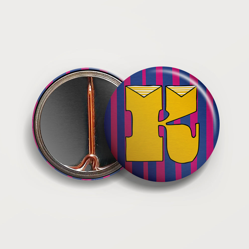 Letter K button badge