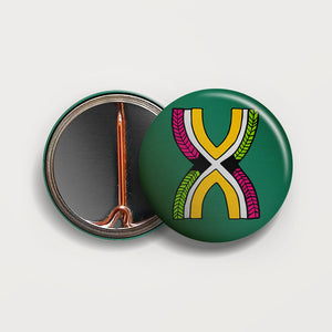 Letter X button badge