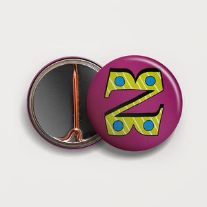 Letter Z button badge
