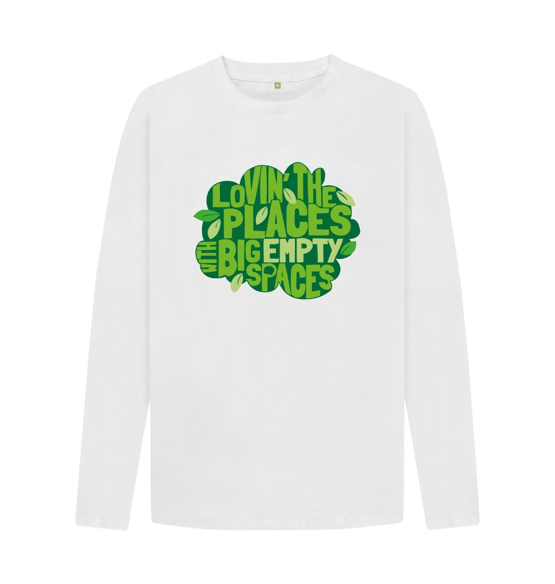 White Men's \/ Unisex Places with Spaces Long Sleeved Tee
