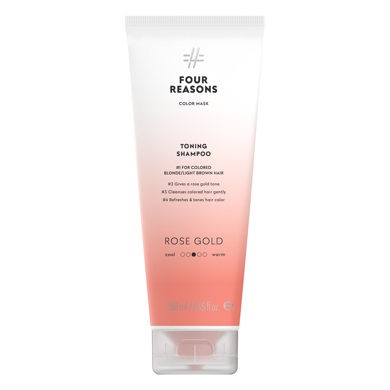 Four Reasons Color Mask Toning Shampoo Rose Gold, sävyttävä shampoo, ruusukulta, 250ml,