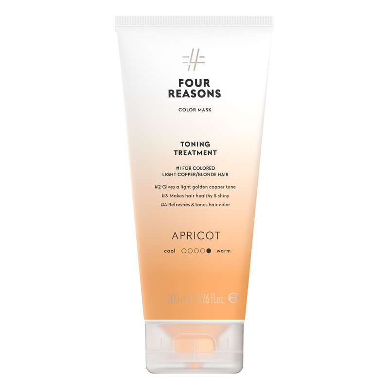 Four Reasons Color Mask Toning Treatment Apricot, sävyttävä tehohoito, 200ml