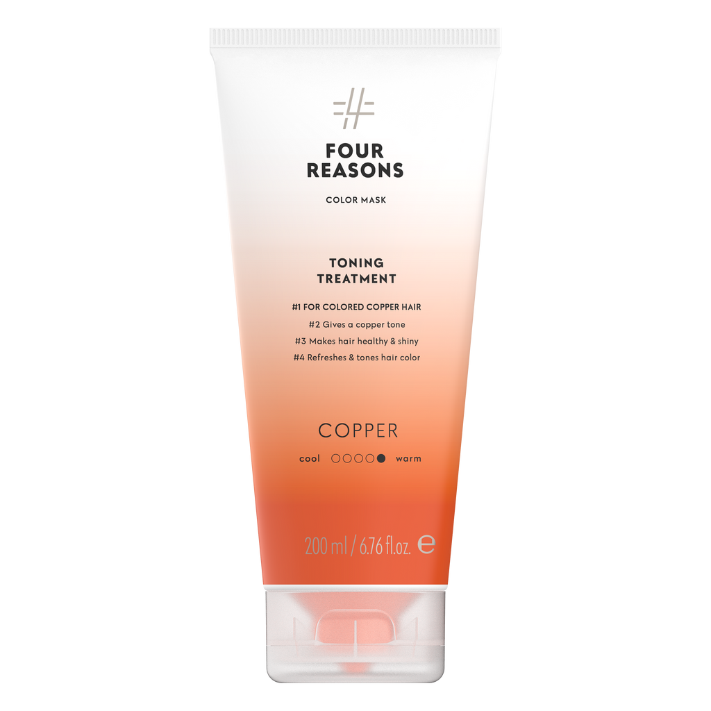 Four Reasons Color Mask Toning Treatment Copper, sävyttävä tehohoito, 200ml,