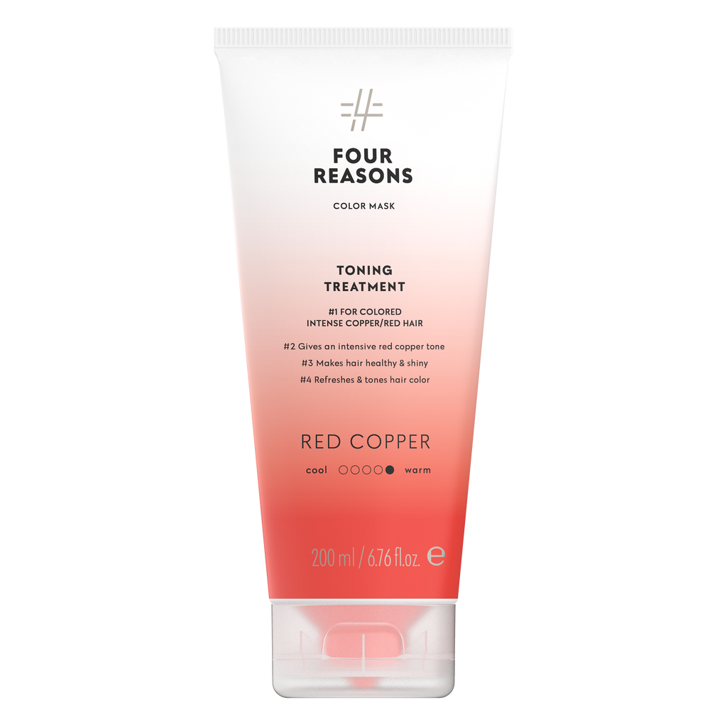 Four Reasons Color Mask Toning Treatment  Red Copper, sävyttävä tehohoito, 200ml