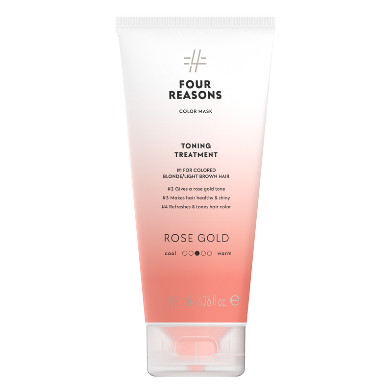 Four Reasons Color Mask Toning Treatment Rose Gold, 200ml, sävyttävä tehohoito , Rose Gold