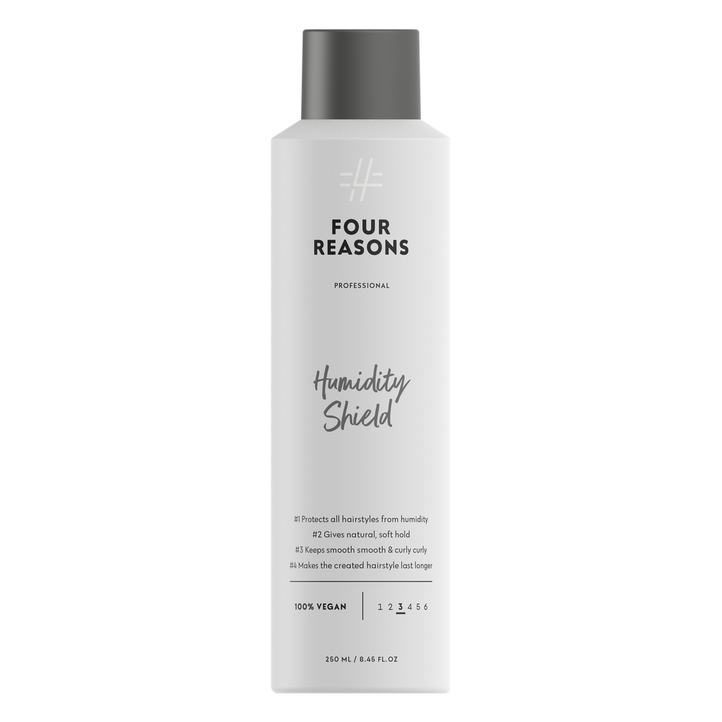 Four Reasons Professional Humidity Shield, 250ml, tehokasta kosteussuojaa ja pehmeää pitoa