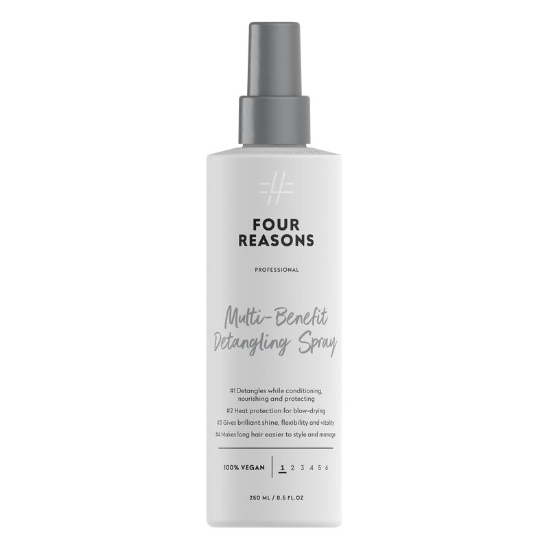 Four Reasons Professional Multi-Benefit Detangling Spray, 250ml, monivaikutteinen, hiusta kiillottava, selvittävä ja suojaava, lämpöaktivoituva hoitosuihke