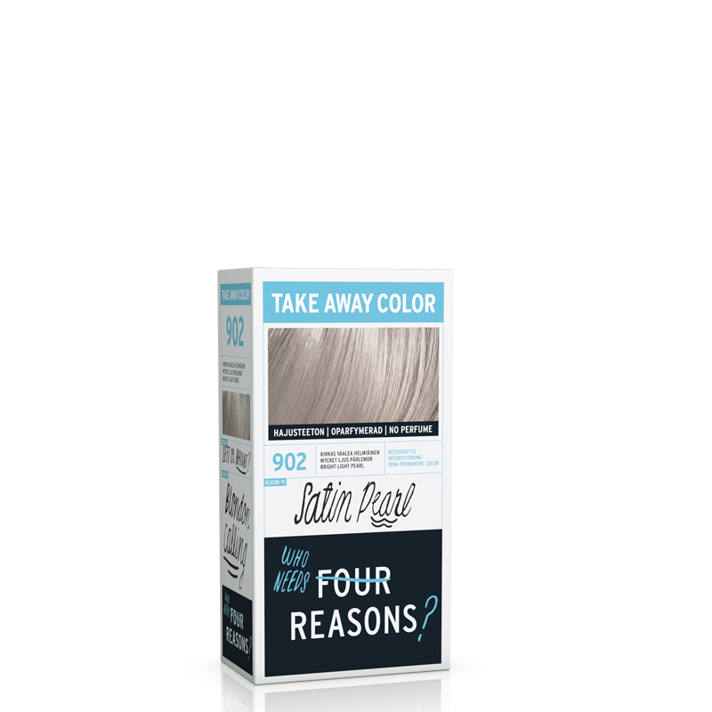 KC Professinal Four Reasons Take Away Color 902 satin pearl satiini helmi hotelli ja lakanat