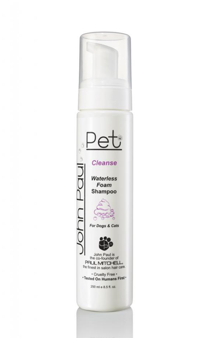 John Paul Pet Waterless Foam Shampoo 250 ml Kuivashampoo lemmikille kuivapesu vedetön shampoo nordic hair house