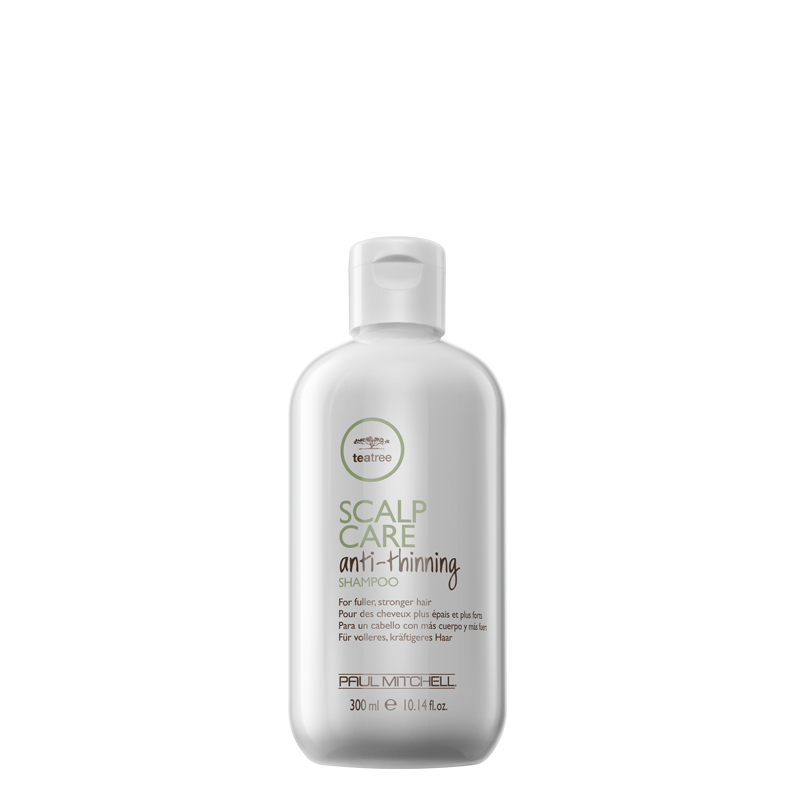 Paul Mitchell Tea Tree Scalp Care Anti-Thinning Shampoo 300 ml, hiusten ohenemista ehkäisevä, auttaa hiusten lähtöön auttaa kaljuuntumiseen nordic hair house olaplex