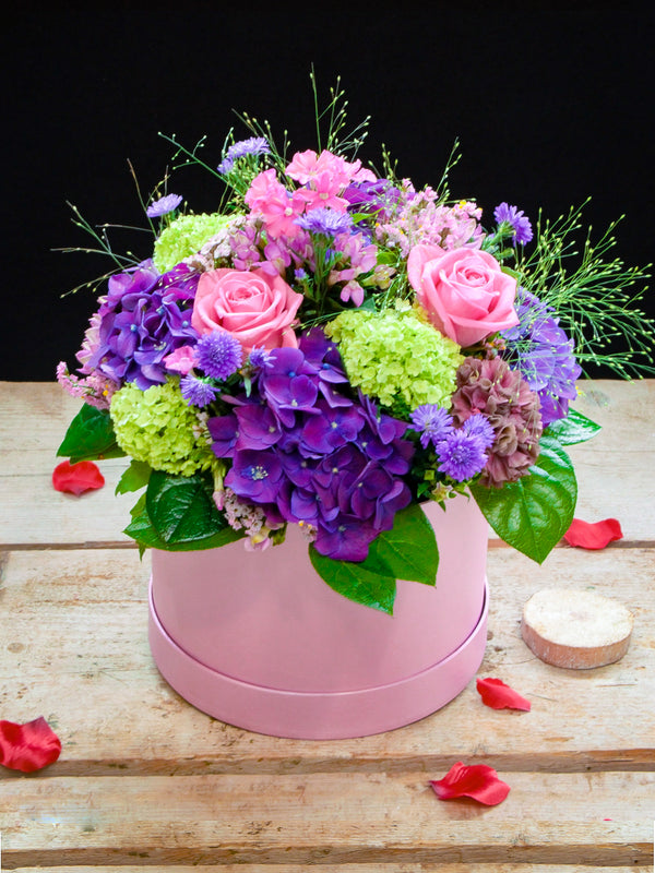 Pink and Purple Hatbox