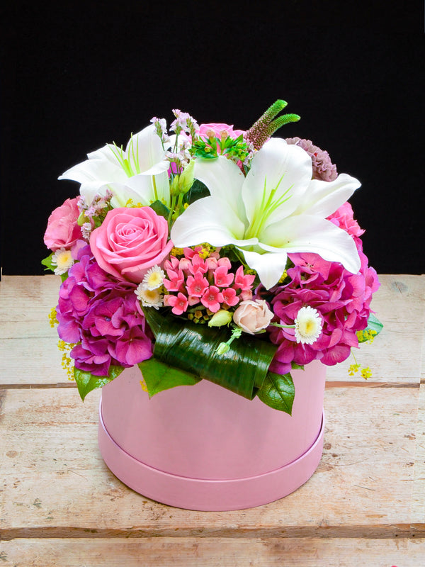Pink and White Hatbox