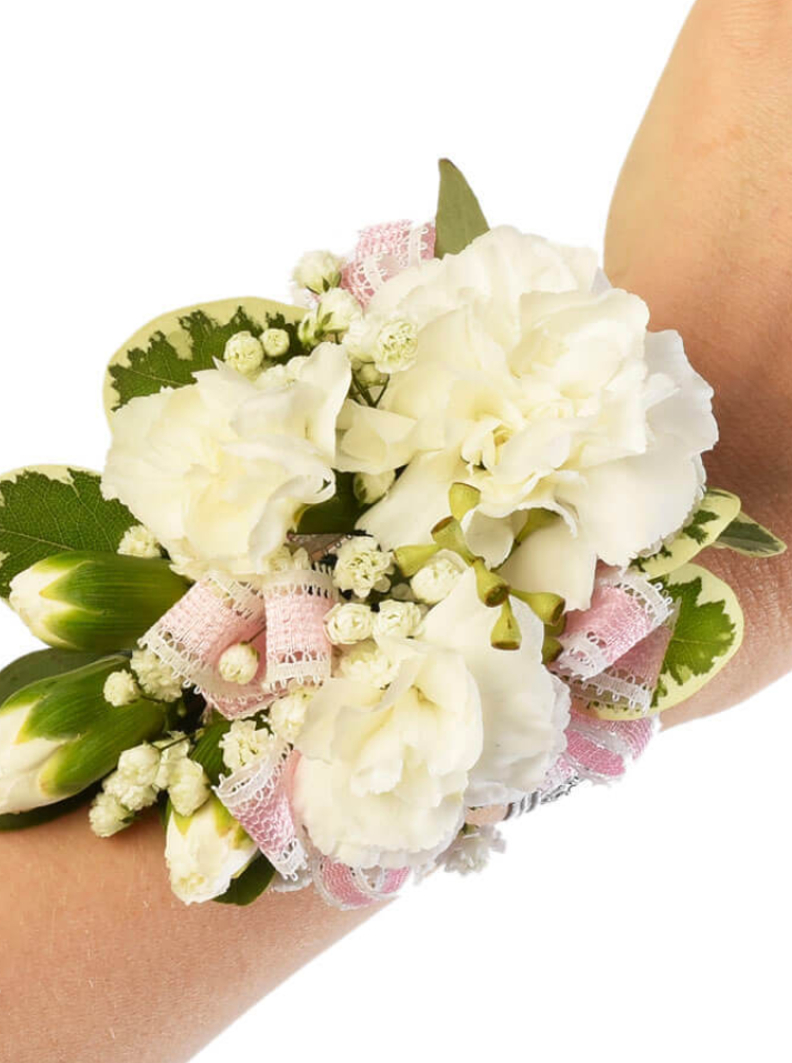 White Fancy Corsage