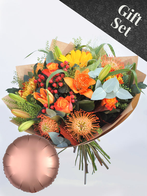 Autumnal Flower Bouquet and Balloon
