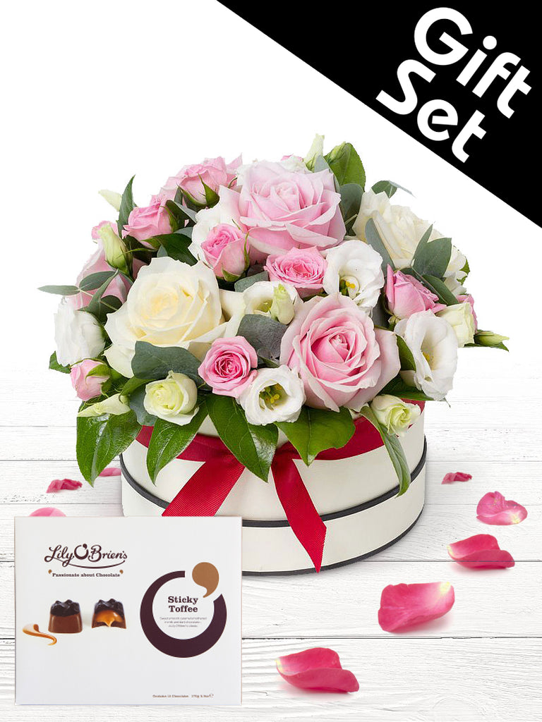 Shades Of Love Hatbox with Chocolates