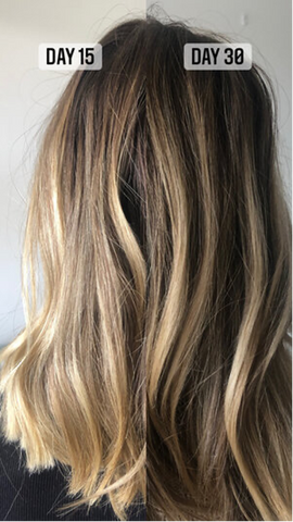 before and after taking inner hair nutrition bites results